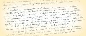 Franz-Vatican Letter