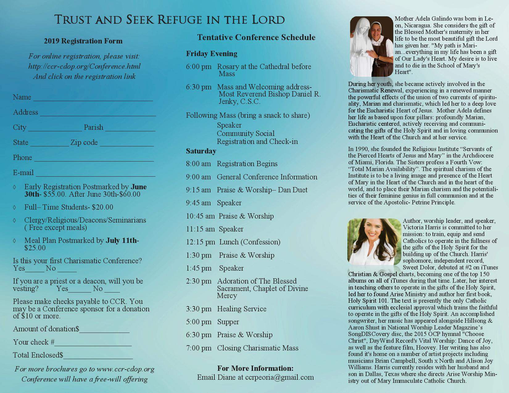 Catholic Diocese of Peoria conference 2019 brochure v2