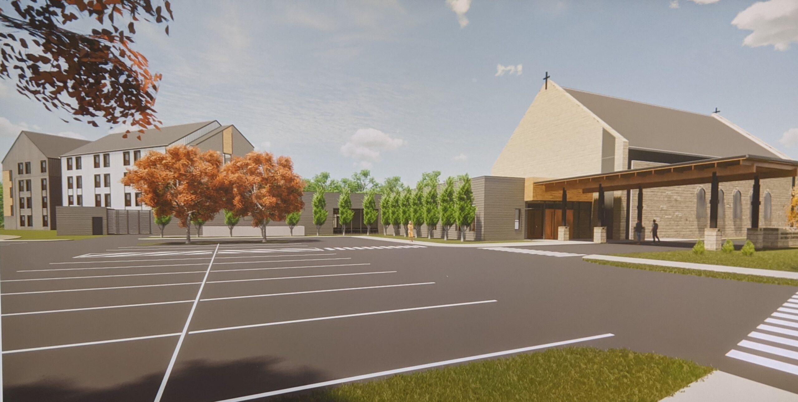 Sacre-Coeur Retreat Center Entry